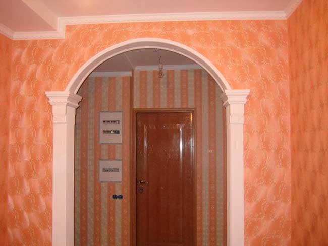 Обрамление арки в квартире фото