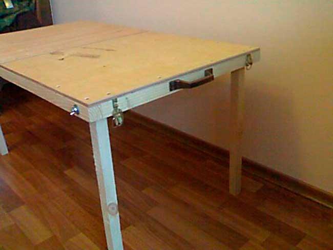 Как сделать сами раздвижной стол