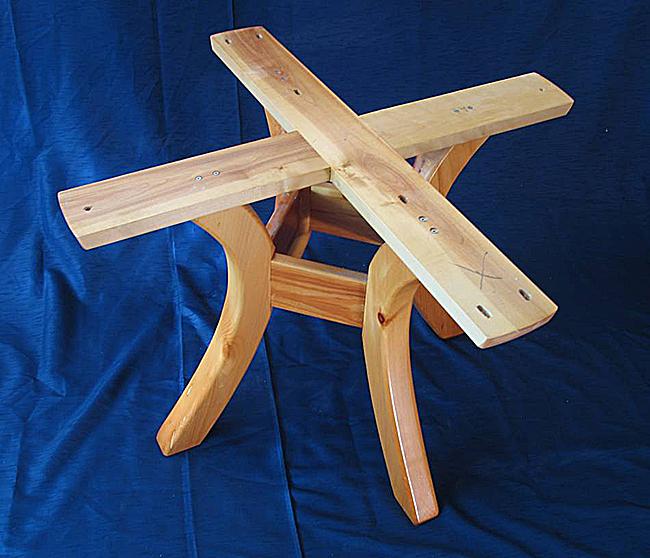 Как сделать стол круглый из дерева 753