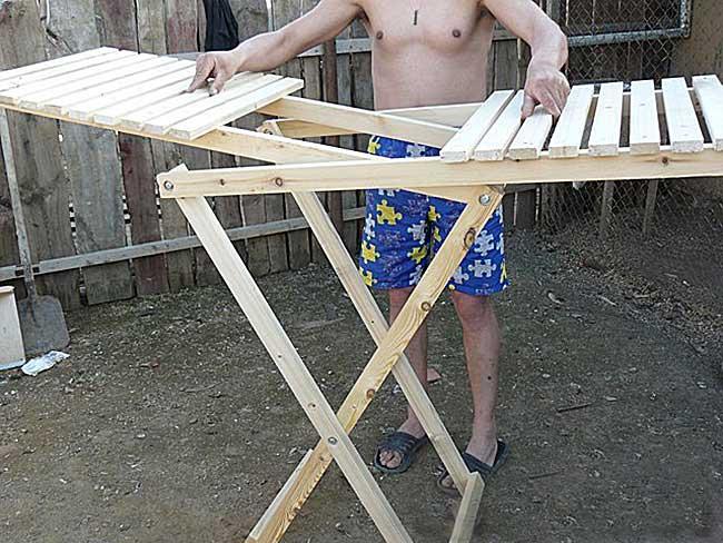 Раскладной столик своими руками для торговли
