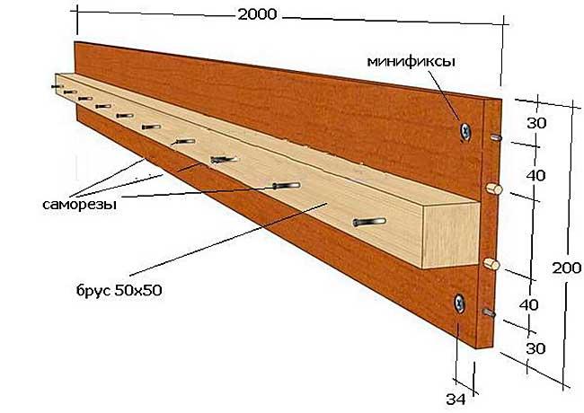 чертежи и советы по изготовлению двуспальной кровати из клееной фанеры