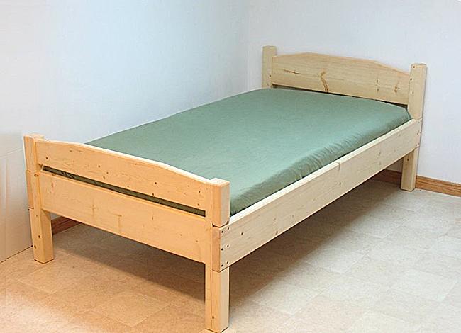 Односпальные кровати своими руками чертежи фото